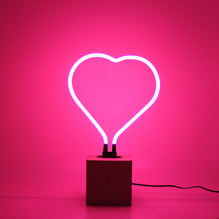 Neon Heart Lamp By Locomocean