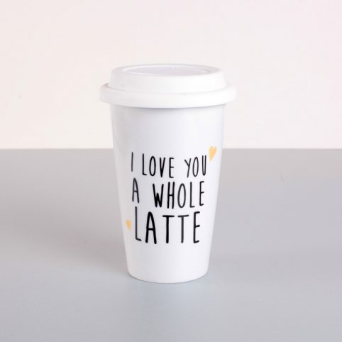 Thermal Mug - I love you a whole latte Buy Online UK