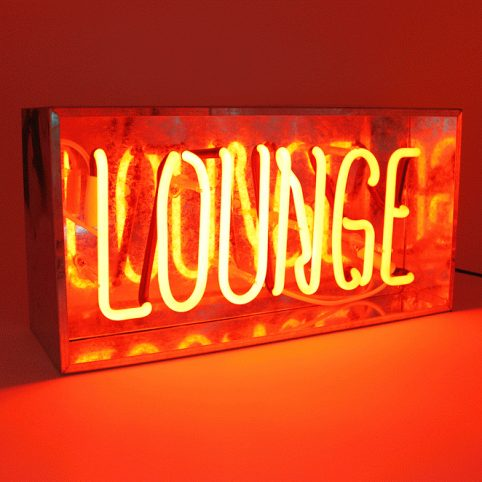 Neon Light Sign for Home - Lounge Light Up Sign