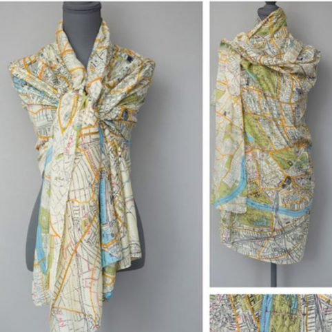 Vintage London Map Scarf by One Hundred Stars - Buy Online UK