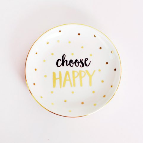 Choose Happy Trinket Dish - Ceramic Trinket Dish Buy Online UK