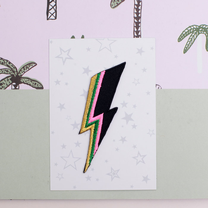 Lightning Bolt Iron On Patch Sourcelifestyle