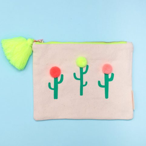 Cacti Canvas Pouch from Meri Meri