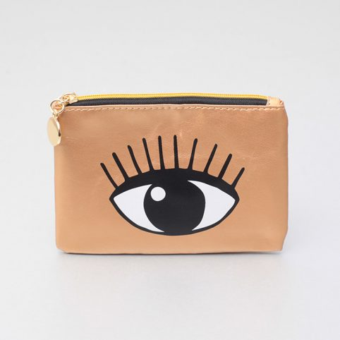 Gold Coin Purse - Eyes Prints by Sass and Belle