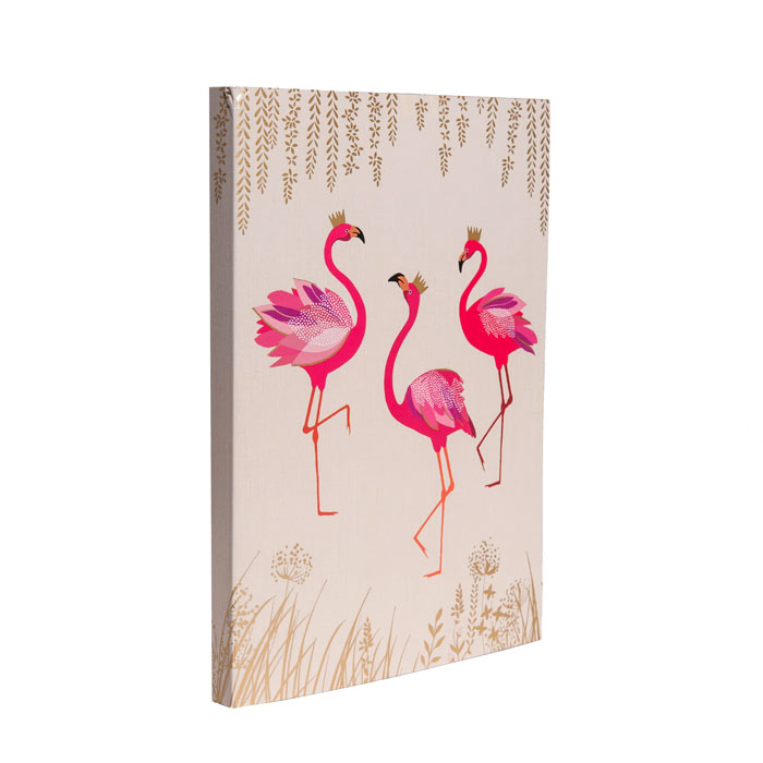 Flamingo Notebook - Funky A5 Notebook by Sara Mille