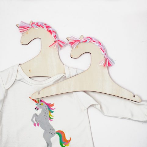 Kids Wooden Hangers - Unicorn hangers from Meri Meri