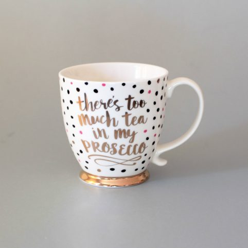 Prosecco Mug With Polkadots - Buy Online UK