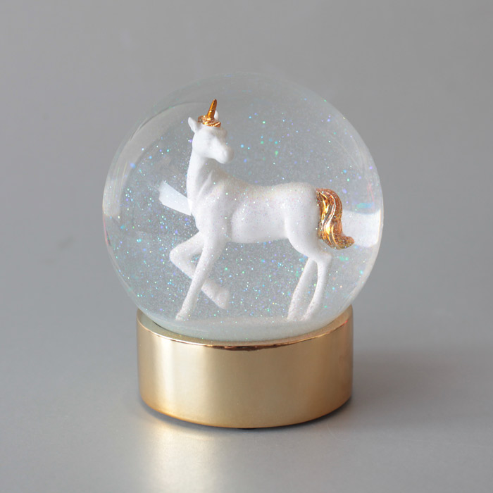 Unicorn Snow globe from Talking Tables Buy Online £15 Free P&P