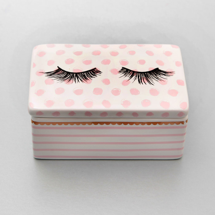 cute trinket box with polkadots buy online uk On cute homeware accessories