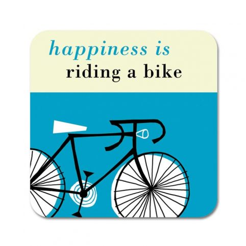 Happiness is Riding My Bike Coaster