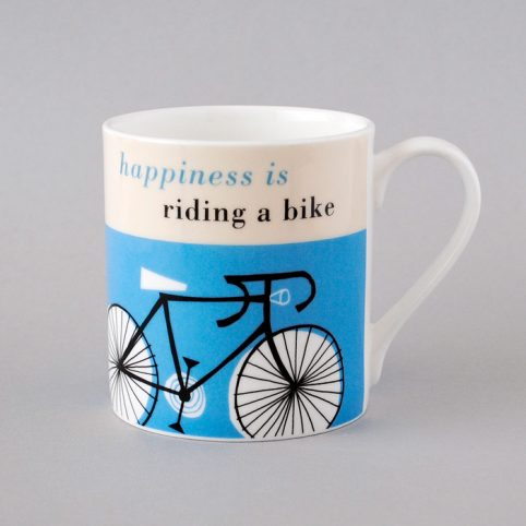 Happiness Is Riding A Bike Mug - £.8.50 Buy Online UK
