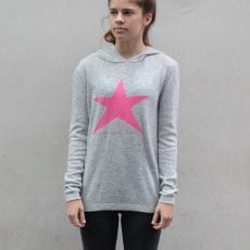 Star Jumper Grey with Hoodie - Free UK Delivery