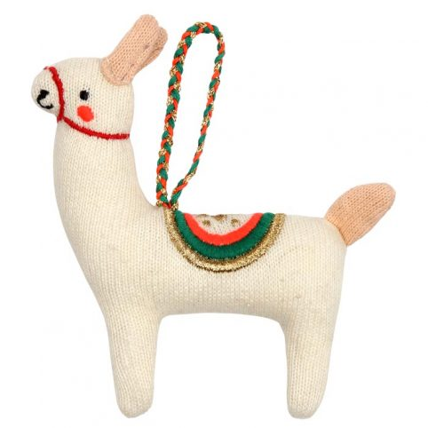 Llama Knitted Chistmas Decoration - Free UK Delivery