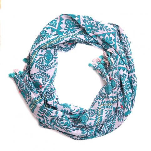 Tassel Trim Scarf by One Hundred Stars - £22.50 Free P&P