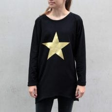 Gold Metallic Star Jumper - Buy Online UK Free P&P