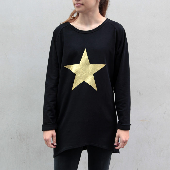 Gold Metallic Star Jumper