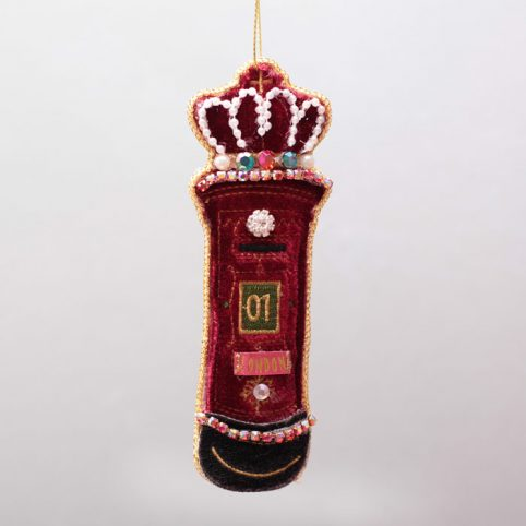 Velvet Letter Box Christmas Decoration