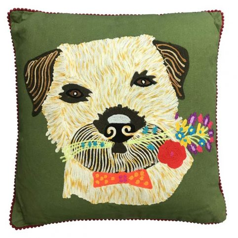 Floral Terrier cushion from pignut