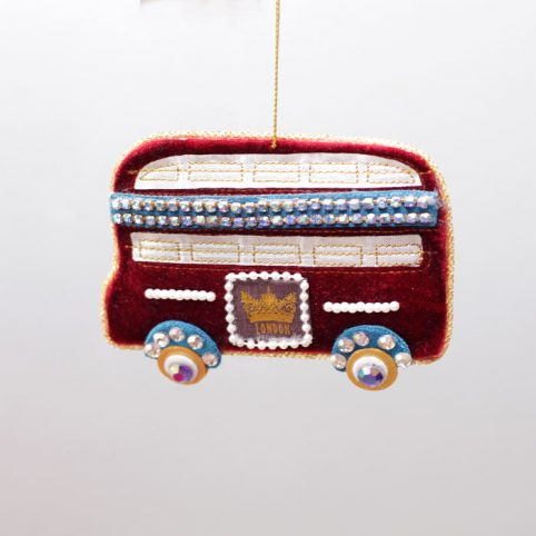 London Bus Christmas Ornament from Gisela Graham