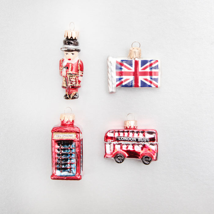London Christmas Decorations - Set of 4 - Free Delivery