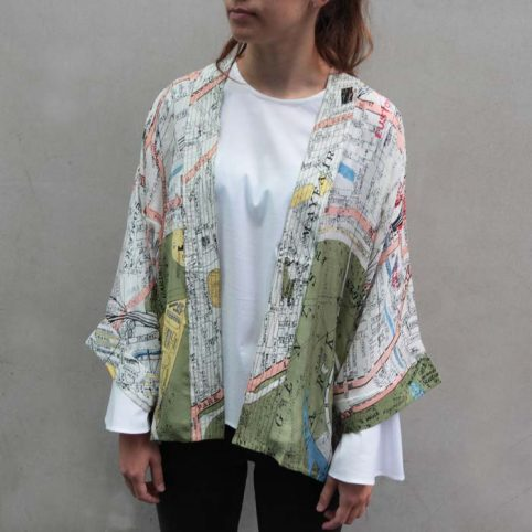 London Map Kimono One Hundred Stars £40 Free P&P