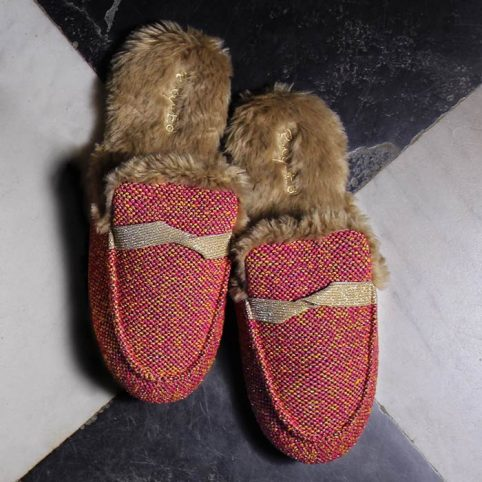 Faux Fur Mule Slippers from Ruby and Ed - Free UK Delivery