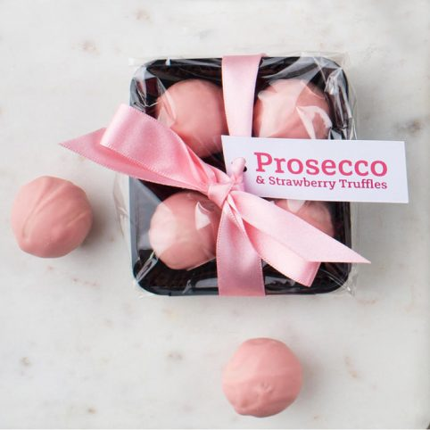 Strawberry and Prosecco Truffles