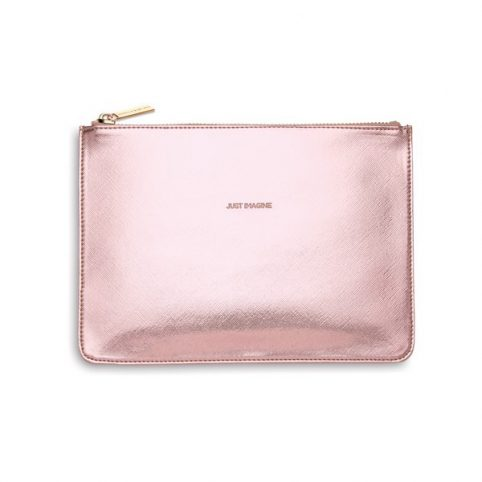 Estella Bartlett Shiny Pink Clutch Bag - £15 Free UK Delivery