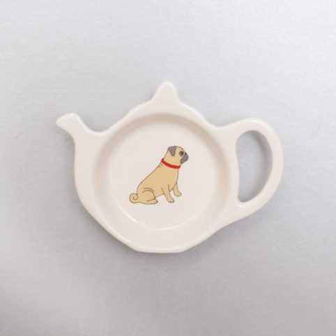 Pug Tea bag Rest
