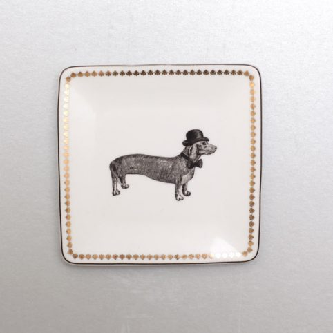 Dachshund Square Trinket Tray from Alice and Scott