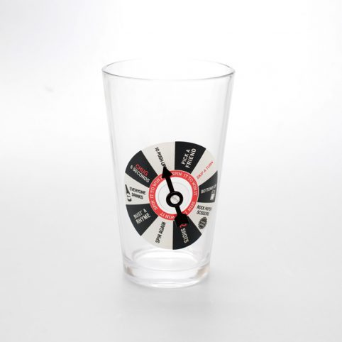 Spin to Win Pint Glass Game - Free UK Delivery