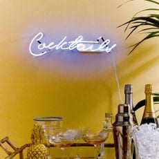 Cocktails Neon Sign - £50.50 Buy Online UK