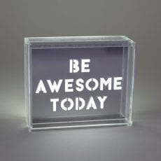 Locomocean LED Box with Positive Thinking Quotes