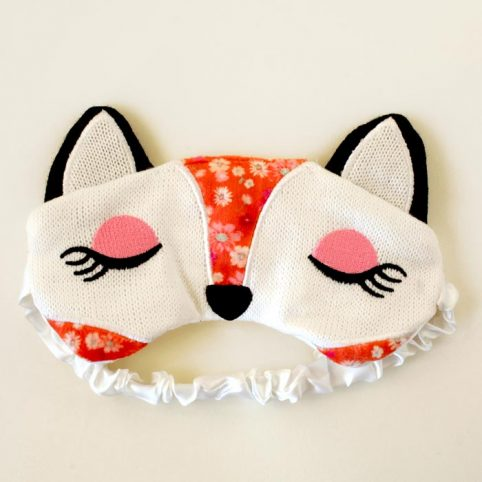 Lavender Relaxing Eye Mask with a Fox Design