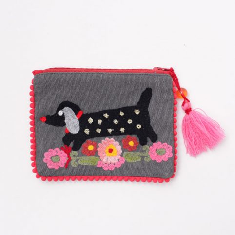 Embroidered Dachshund Purse - £11.50 Free UK Delivery
