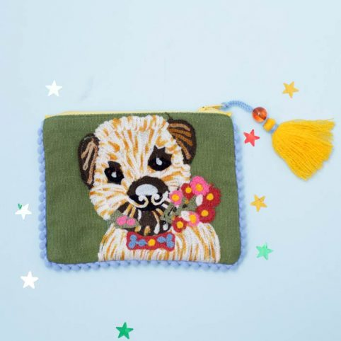 Pignut Floral Terrier Embroidered Purse - £11.50 Free P&P
