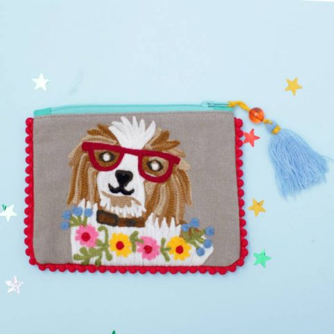 Spaniel Embroidered Purse - £11.50 Free p&p