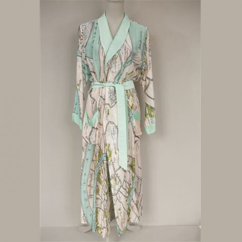 Venice Map Dressing Gown - Free UK Delivery