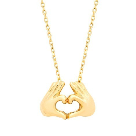 Estella Bartlett Heart Hand Necklace - Free P&P