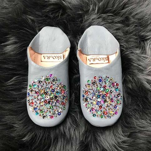 Leather Sequin Slippers - £20 Free UK Delivery