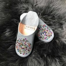 Babouche Leather Sequin Slippers - Free UK Delivery