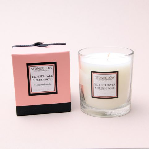 Elderflower and Blush Rose Candle from Stoneglow - Free UK Delivery
