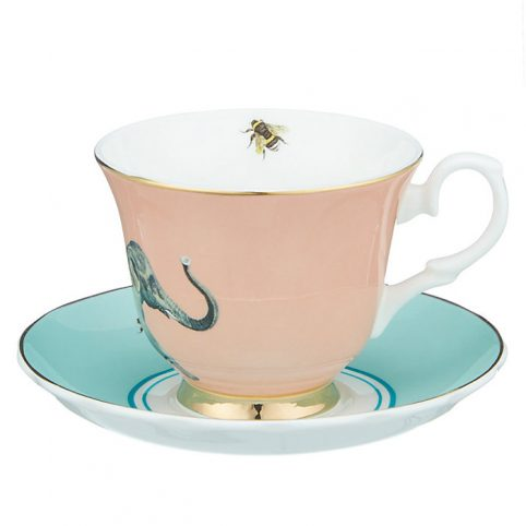 Elephant Tea Cup and Saucer from Yvonne Ellen