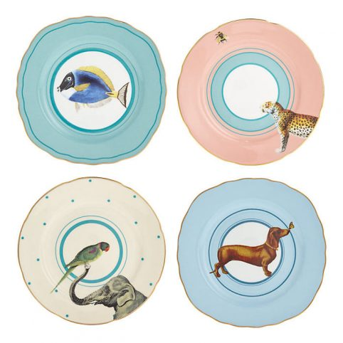 Yvonne Ellen Animal Plate Set of Four