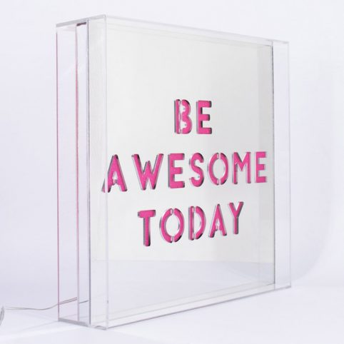 Be Awesome Today LED Lightbox