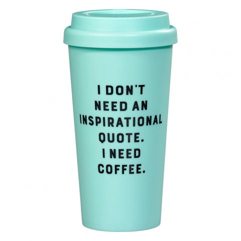I Need Coffee Travel Mug