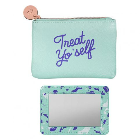 Treat Your Self Coin Purse and Mirror - Free P&P