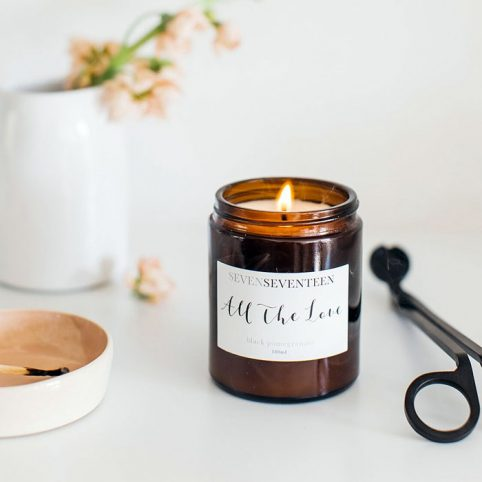 All The Love Black Pomegranate Candle - Seven Seventeen For Sale Online.