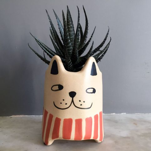 Ceramic Cat Plant Pot - Buy Online UK