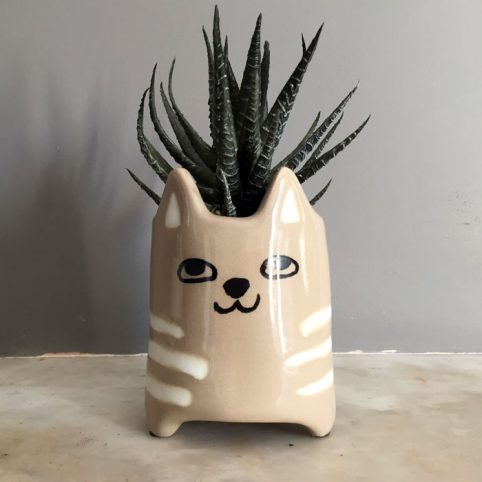 Cat Face Plant Pot - Parlane UK